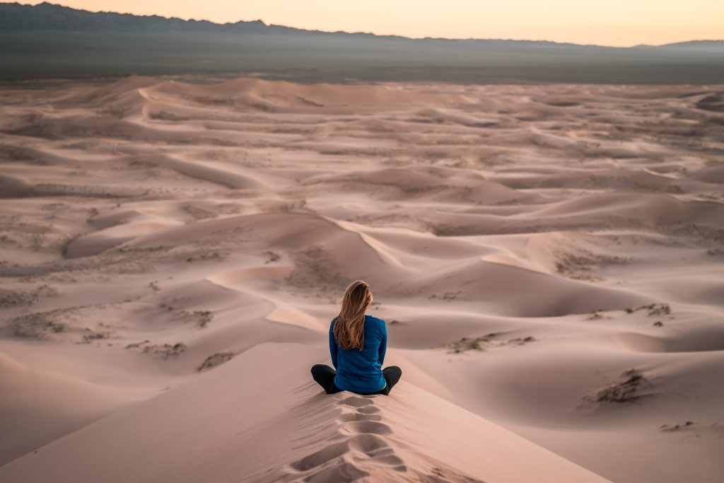 Your Health is Your Wealth - view over desert sand dunes
